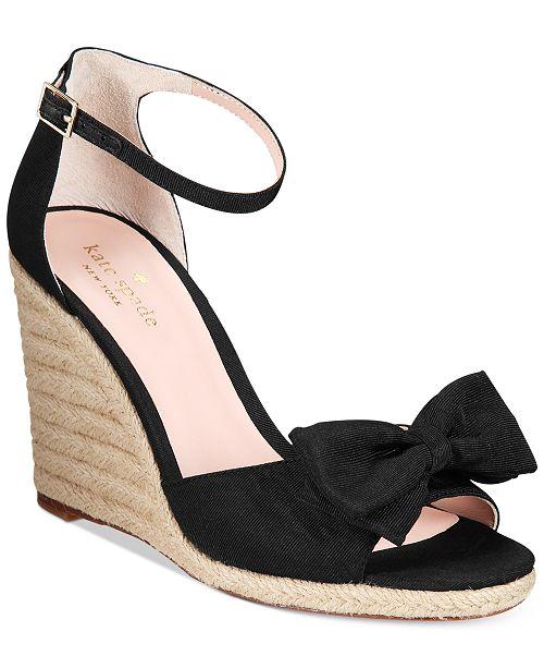 3575e70e3228 kate spade new york Broome Bow Wedge Sandals   Reviews ...