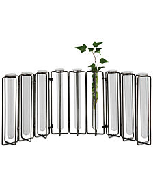 Glass Vases in Metal Stand