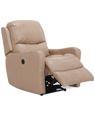 Oliver Leather Power Recliner Furniture Macy S