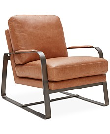 Jollene Leather Accent Chair