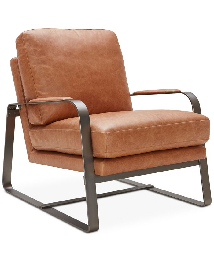 Furniture - Jenelle Leather Accent Chair, Only at Macy's