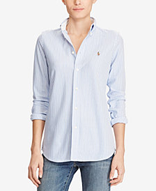 Polo Ralph Lauren Slim-Fit Button-Front Knit Shirt