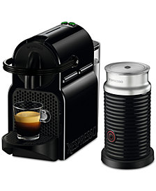 Nespresso Inissia Espresso Maker by De'Longhi with Aeroccino, Black