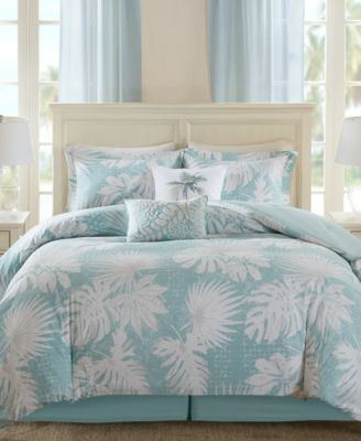 Palm Grove 5PC Botanical Print King Duvet Set