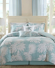 Palm Grove 6-Pc. Botanical Print Full Comforter Set