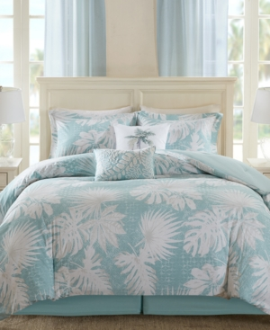 Image of Harbor House Palm Grove 6-Pc. Botanical Print Full Comforter Set Bedding
