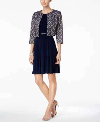 Jessica Howard Lace Jacket Dress