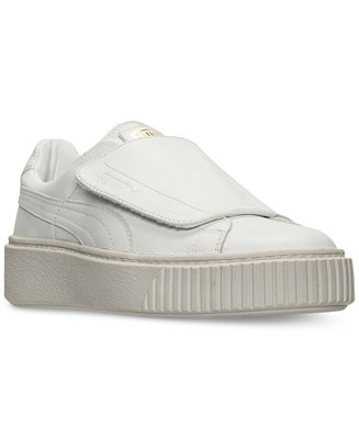 cheap for discount 87f5e d9591 Puma Women's Basket Platform Strap Casual Sneakers from ...