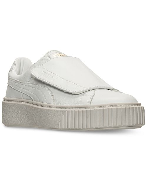 1277b4aca90f Puma Women s Basket Platform Strap Casual Sneakers from Finish Line ...