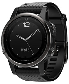 Garmin Unisex fenix® 5S Sapphire Black Strap Analog-Digital GPS Smart Watch 42mm