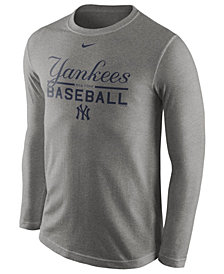 Nike Men's New York Yankees Cotton Practice Long Sleeve T-Shirt