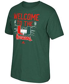 adidas Men's Miami Hurricanes Stadium Tri Blend T-Shirt