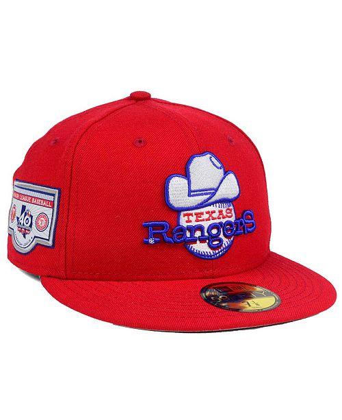 New Era Texas Rangers Banner Patch 59FIFTY Cap