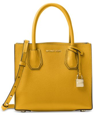 Image of MICHAEL Michael Kors Studio Mercer Medium Bonded-Leather Messenger