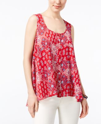 Image of Style & Co Printed Sleeveless Blouse, Only at Macy's