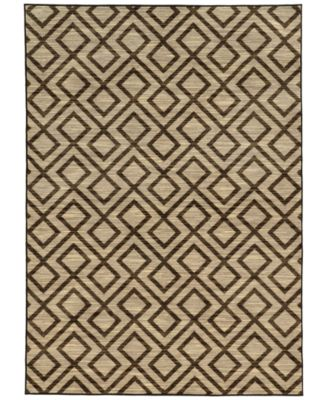 "CLOSEOUT!  Brookside Avenue Brown 5'3"" x 7'6"" Area Rug"
