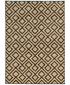"CLOSEOUT! JHB Design  Brookside Avenue Brown 9'10"" x 12'10"" Area Rug"