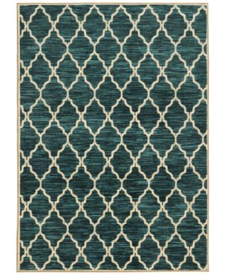 "CLOSEOUT!  Brookside Exx Teal 3'3"" x 5'5"" Area Rug"
