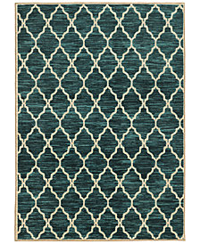 "CLOSEOUT! JHB Design  Brookside Exx Teal 6'7"" x 9'6"" Area Rug"