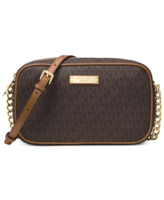 Image of MICHAEL Michael Kors Signature Jet Set Item Large East West Crossbody
