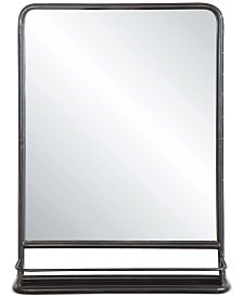 Metal-Framed Mirror with Shelf