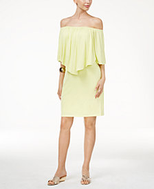 Thalia Sodi Off-The-Shoulder Dress, Sandals & Accessories, Created for Macy's