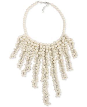 Carolee  SILVER-TONE IMITATION PEARL STATEMENT NECKLACE