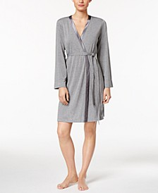 Satin-Trimmed Wrap Robe, Created for Macy's