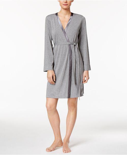 Alfani Satin-Trimmed Wrap Robe, Created for Macy's