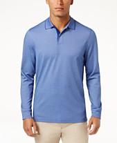 7587f79dd83 Tasso Elba Men s Supima® Blend Long-Sleeve Polo