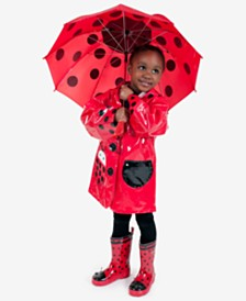 Kidorable Ladybug Rain Gear, Toddler Girls & Little Girls