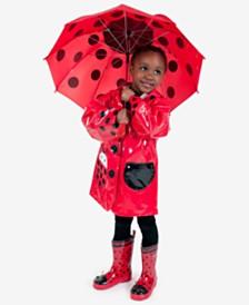 Kidorable Ladybug Rain Gear, Toddler Girls & Little Girls