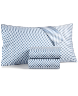 Charter Club Damask Designs Printed King 4pc Sheet Set 500 Thread Count Created for Macys Bedding