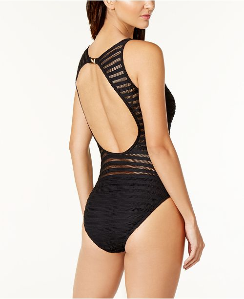 726ad873a7 Lauren Ralph Lauren Mesh One-Piece Swimsuit   Reviews - Swimwear ...