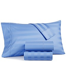 CLOSEOUT! Charter Club Damask Stripe Twin 3-Pc Sheet Set, 550 Thread Count 100% Supima Cotton, Created for Macy's
