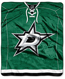 Northwest Company Dallas Stars Raschel Stamp Throw Blanket