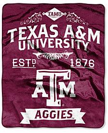 Northwest Company Texas A&M Aggies Raschel Rebel Throw Blanket