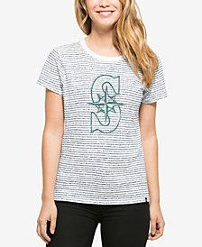 '47 Brand Women's Seattle Mariners Sparkle Stripe T-Shirt