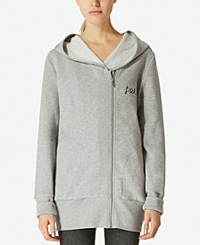Avec Les Filles Oversized Embroidered Zip-Up Cotton Hoodie