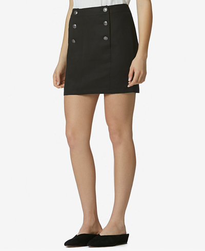 Avec Les Filles Button-Detail Mini Skirt