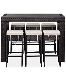 Conell Outdoor 7-Pc. Bar Set, Quick Ship