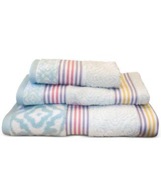 """Lily Cotton Stripe 27"""" x 50"""" Bath Towel"""