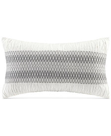 """INK+IVY Shiloh Embroidered Ruched 12"""" x 20"""" Decorative Pillow"""