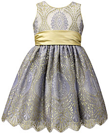 Jayne Copeland Gold Sash Ball Gown, Toddler Girls (2T-5T)