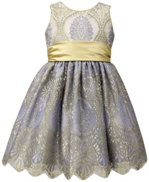 Jayne Copeland Gold Sash Ball Gown, Little Girls (4-6X) 4584469