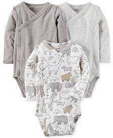 Carter's 3-Pk. Cotton Side-Snap Bodysuits, Baby Boys & Girls