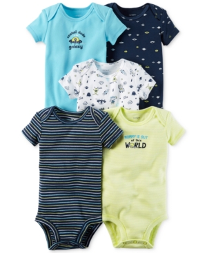 Carters 5Pk Cotton Space Bodysuits Baby Boys (024 months)