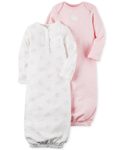 Carter\'s 2-Pk. Bunny Sleeper Gowns, Baby Girls - Sets & Outfits ...