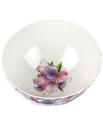 "Botanic Garden Blooms Sweet Pea 9"" Serving Bowl"