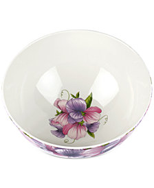 "Portmeirion Botanic Garden Blooms Sweet Pea 9"" Serving Bowl"